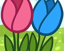 Поэтапное рисование весенних цветов, тюльпанов, с детьми