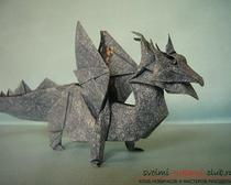 Уроки и схемы дракона из бумаги - выполнение оригами дракона своими руками