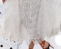 Белая изящная юбка, связанная крючком, своими руками
