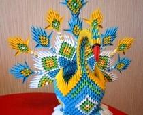 Цветок в технике модульное оригами