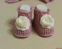 Пинетки для новорожденных крючком