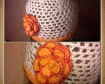 Вязание крючком: Шапочка для красотки