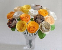 Чудесная роза из бумаги