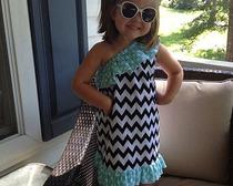 Выкройка красивого детского платья