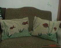 Подушки из остатков мебельной ткани