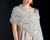 Оригинальный шарф-манто спицами