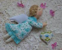 Шитьё кукол: ангел Тильда