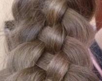 Изящная пятипрядная коса