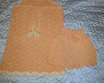 Вязание спицами: летний комплект девочке