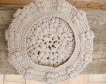 Вязание крючком: Берет капучино