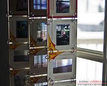Оригинальные элементы декора своими руками: изготовление занавески из слайдов