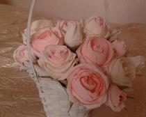 Букет цветов из гофробумаги