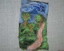 Валяние из шерсти: декоративная композиция
