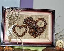 Изготовление картины из кофейных зерен