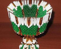 Создание вазы оригами из бумаги