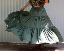 Схема выкройки из журнала Бурда юбки в пол из трех воланов
