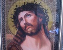 Вышитая икона «Христос с терновым венцом»
