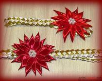Мастер-класс: «Повязка с хризантемой для малышки в технике канзаши»