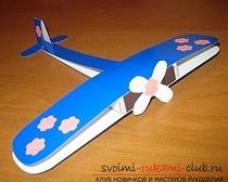 Самолет из картона для папы и дедушки своими руками