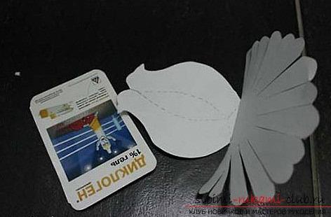 Белые голуби из бумаги. Фото №4