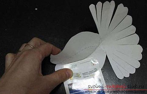 Белые голуби из бумаги. Фото №5