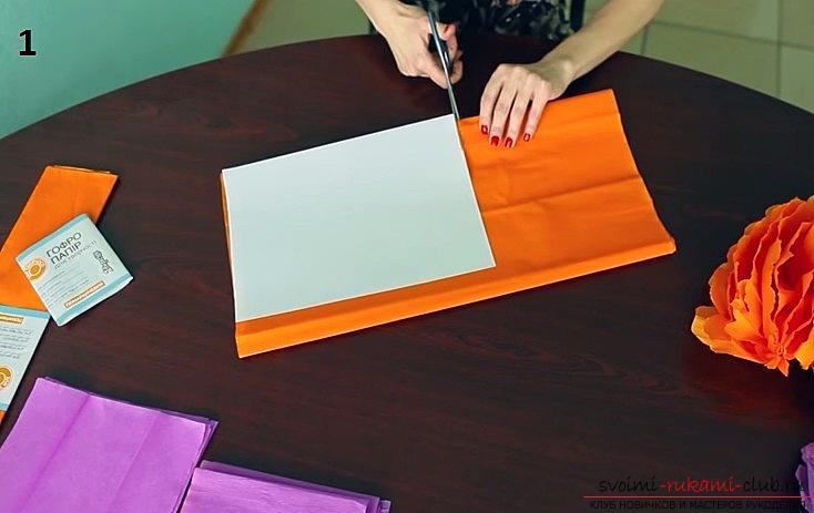 Изготовление своими руками декоративного помпона из гофрированной бумаги. Фото №3