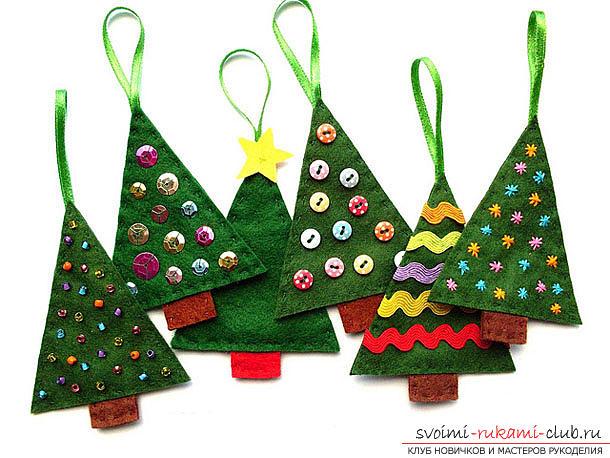 Новогодние игрушки на елку 2015 своими руками