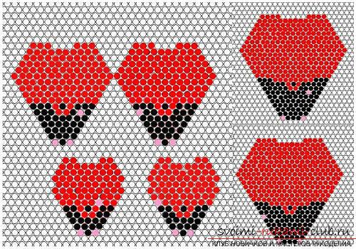Бесплатные схемы плетения розы из бисера, мастер классы с фото и описанием работы.. Фото №4