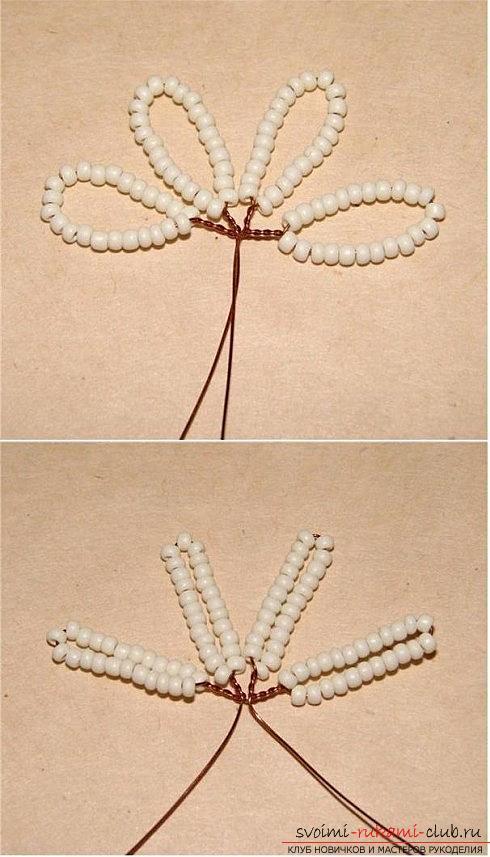 Бесплатные схемы плетения розы из бисера, мастер классы с фото и описанием работы.. Фото №8
