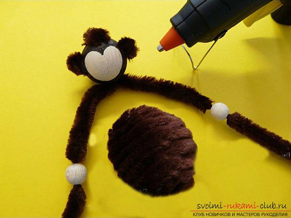 Сделать символ года обезьяну своими руками