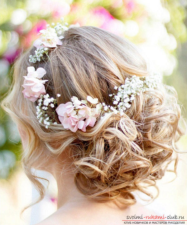 Как сделать свадебную прическу дома