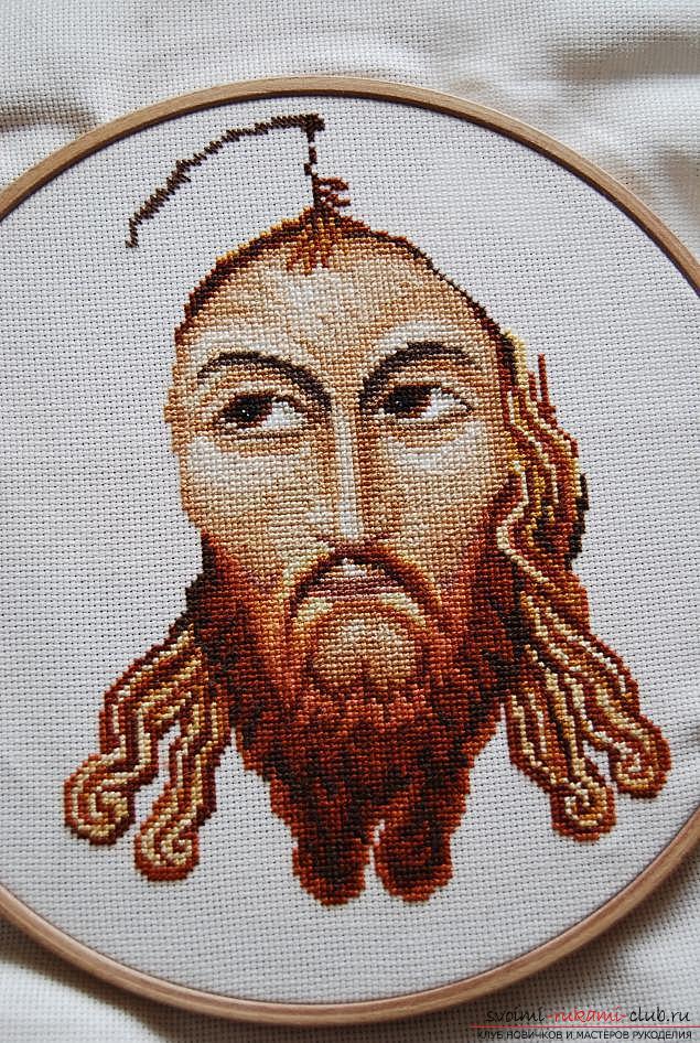 Вышиваем крестом иконы Спасителя и Святой Блаженной Матроны для начинающих. Фото №4