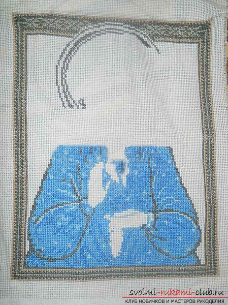 Вышиваем крестом иконы Спасителя и Святой Блаженной Матроны для начинающих. Фото №9