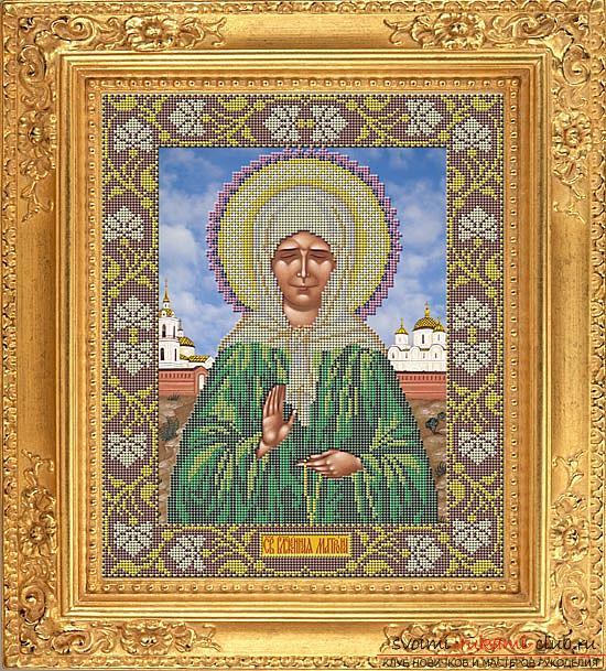 Вышиваем крестом иконы Спасителя и Святой Блаженной Матроны для начинающих. Фото №12