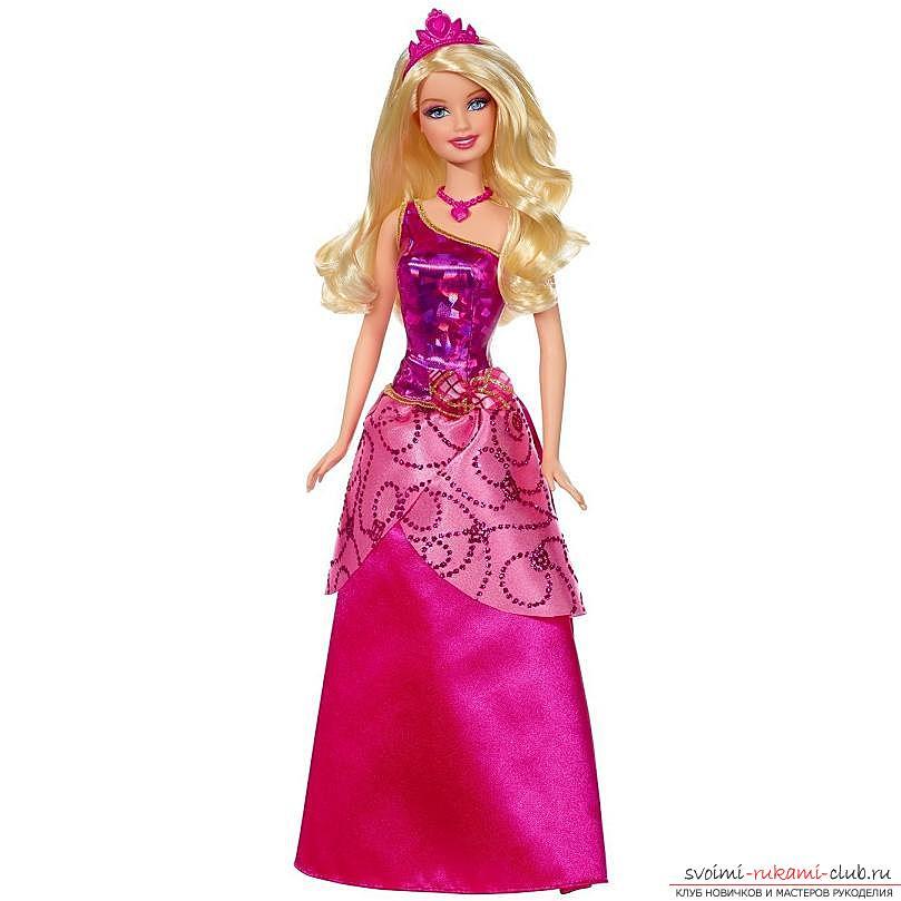Выкройка элегантного чёрно-белого платьица со шляпкой для куклы своими руками. Фото №7