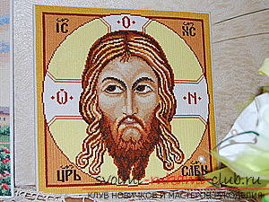 Вышиваем крестом иконы Спасителя и Святой Блаженной Матроны для начинающих. Фото №6