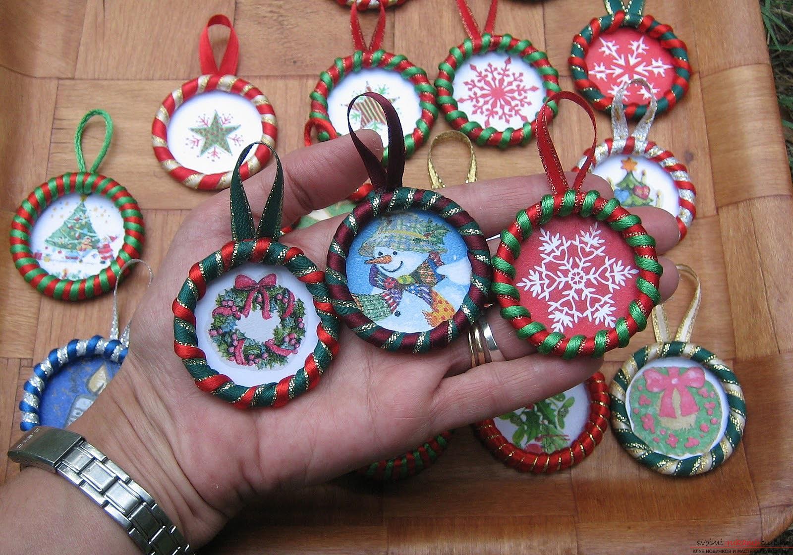 Новогодние игрушки украшения своими руками