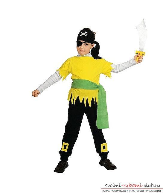 Новогодний костюм разбойника для мальчика своими руками фото