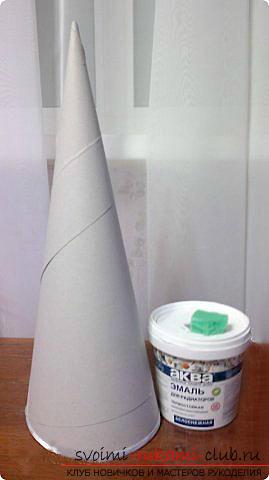 Новогодняя елка своими руками, новогодняя елка из ткани, как сделать новогоднюю елочку своими руками, елка из конфет, мастер-классы по изготовлению елок.. Фото №35