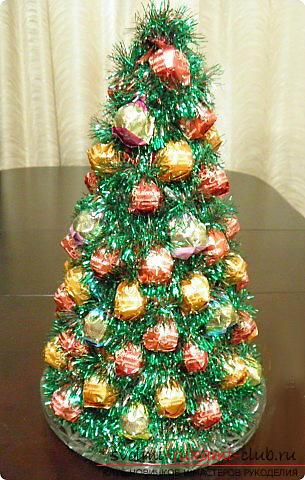 Новогодние елочки с конфетами своими руками
