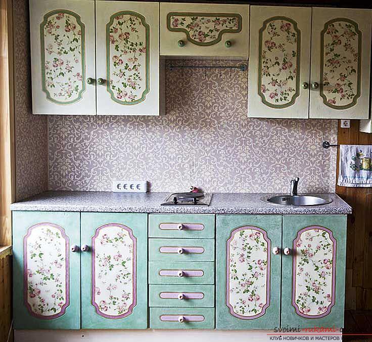 Декор мебели, декор шкафа, как декорировать шкаф своими руками, фото, различные варианты декора.. Фото №1