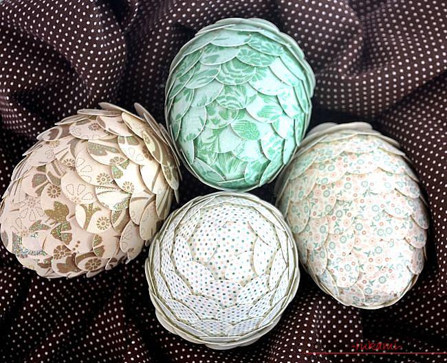 Яйцо сувенир на пасху своими руками