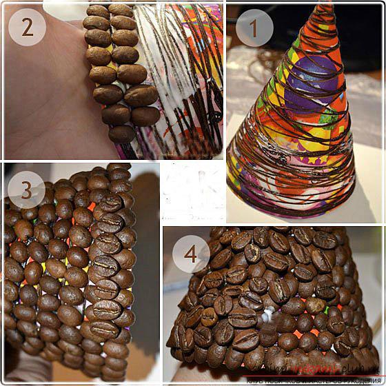Как сделать елку из кофе своими руками