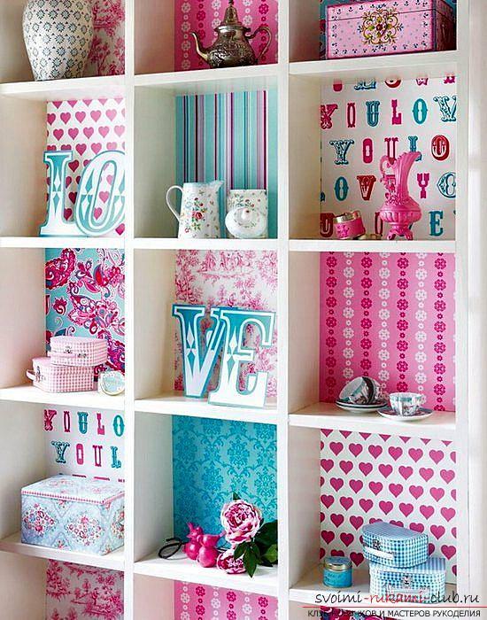 Декор мебели, декор шкафа, как декорировать шкаф своими руками, фото, различные варианты декора.. Фото №3
