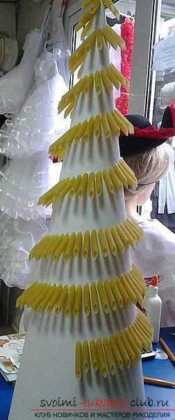 Новогодняя елка своими руками, новогодняя елка из ткани, как сделать новогоднюю елочку своими руками, елка из конфет, мастер-классы по изготовлению елок.. Фото №24