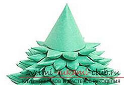Новогодняя елка своими руками, новогодняя елка из ткани, как сделать новогоднюю елочку своими руками, елка из конфет, мастер-классы по изготовлению елок.. Фото №22