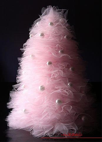 Новогодняя елка своими руками, новогодняя елка из ткани, как сделать новогоднюю елочку своими руками, елка из конфет, мастер-классы по изготовлению елок.. Фото №10