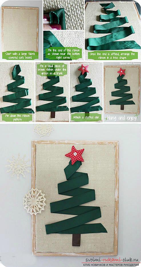 Новогодняя елка своими руками, новогодняя елка из ткани, как сделать новогоднюю елочку своими руками, елка из конфет, мастер-классы по изготовлению елок.. Фото №12