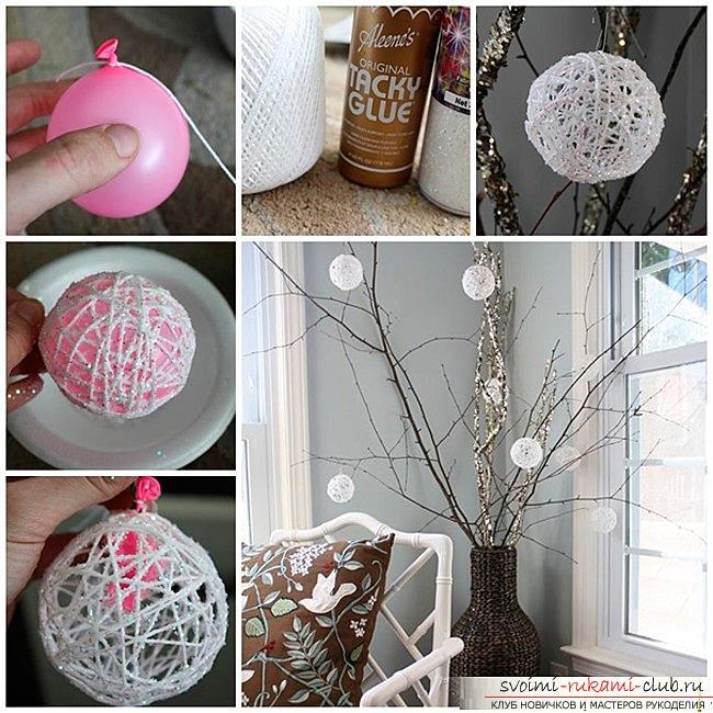Как сделать елочные игрушки: шары, снежинки и многое другое своими руками, мастер классы по созданию новогодних елочных игрушек с пошаговыми фото и описанием. Фото №5
