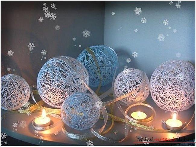 Как сделать елочные игрушки: шары, снежинки и многое другое своими руками, мастер классы по созданию новогодних елочных игрушек с пошаговыми фото и описанием. Фото №4